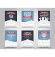 Set of Christmas and New Year flyers vector image