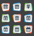 set of simple date icons vector image