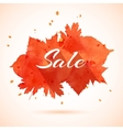 watercolor banner of autumn leaves vector image