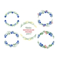 watercolor wreaths and separate floral vector image