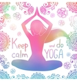 Yoga girl with pattern vector image