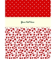 Card with cherries pattern vector image vector image