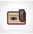 Professional guitar processor flat icon vector image