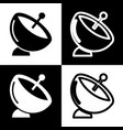 satellite dish sign  black and white icons vector image