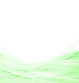 Light green speed swoosh line abstraction shadow vector image vector image