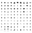 100 web simple icons vector image