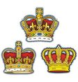 three british crown vector image