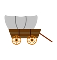 Western covered wagon icon vector image