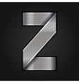 Letter metal chrome ribbon - Z vector image vector image