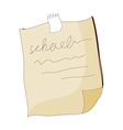 A letters on a paper vector image
