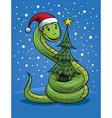 Christmas Snake Cartoon vector image