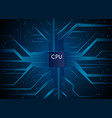 cpu hi-tech technology information communication vector image