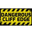 Dangerous cliff edge sign vector image