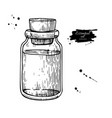 essential oil glass bottle hand drawn vector image