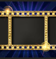 gold film on the curtain backdrop vector image