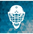 helmet hockey accessory blue abstract background vector image