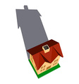 House with shadow vector image