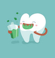 rinse your mouth out tooth concept of dental vector image