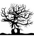 scary tree monster sketch halloween vector image