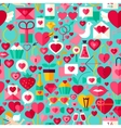 Valentine Day Blue Seamless Pattern vector image