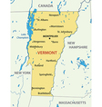Vermont - map vector image
