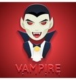Vampire Avatar Role Character Bust Icon Halloween vector image