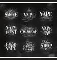 vape elements chalk vector image