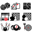 set game icons part 1 vector image vector image