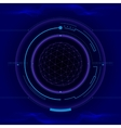 Futuristic touch screen user interface HUD vector image
