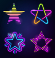 Decorative neon stars vector image