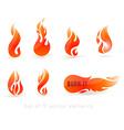 Burn It Fire Design Set vector image