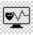 cardio monitoring icon vector image