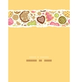 Colorful cookies vertical torn seamless pattern vector image
