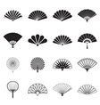 Hand fan icons vector image