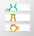Set of header banner geometric design vector image