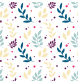 Elegant floral seamless pattern with plants vector image