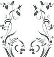 elegant floral swirl frame for your design vector image