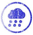 rain cloud grunge textured icon vector image