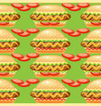 seamless pattern with big hot do vector image