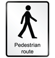 Pedestrian route Information Sign vector image