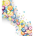 colorful rainbow wave vector image vector image