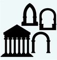 Classic arch and Portico an ancient temple vector image