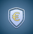 Euro sign on a shield vector image