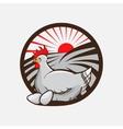 Chicken farm emblem vector image