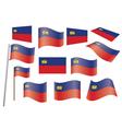 flag of Liechtenstein vector image vector image