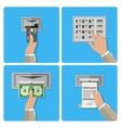 ATM terminal usage concept vector image