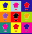 chef hat and moustache sign pop-art style vector image