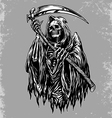 Hand Inked Grim Reaper vector image