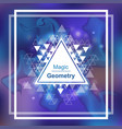 magic geometry background with triangle vector image