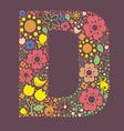 Ornamental floral letter D vector image